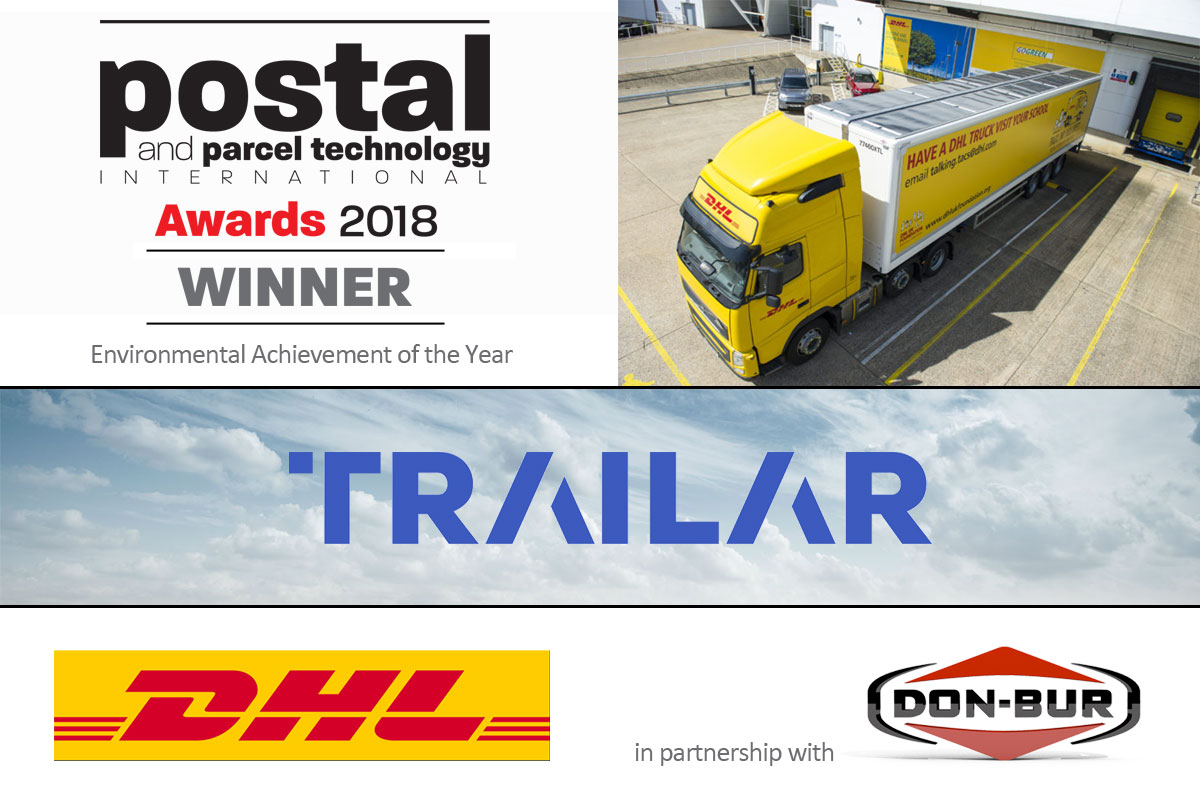 Postal & Parcel Technology - Environmental Achievement of the Year: TRAiLAR, DHL & Don-Bur