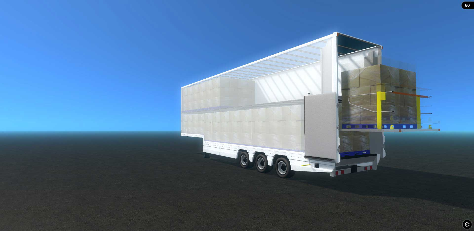 Fixed Double Deck Trailer with Tail-lift