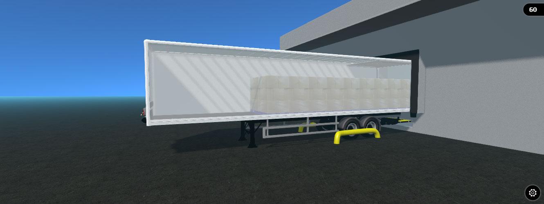 3d box van trailer model
