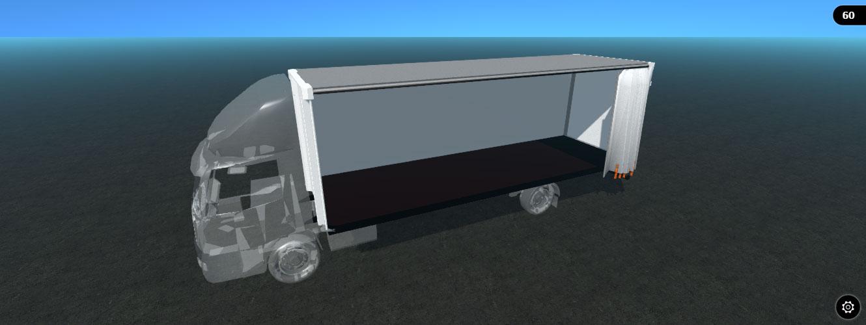 3d rigid curtainsider model