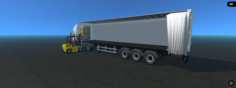 3d curtainsider trailer model