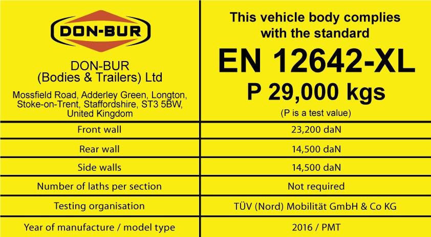 EN 12642-XL