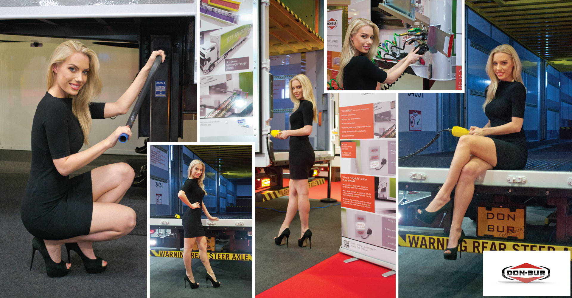 Amber Gregory Demonstrates Innovative Trailer Safety Features at the CV Show