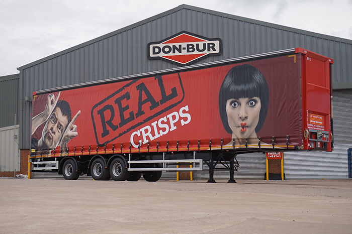 Real Crisps Longer Semi Trailer