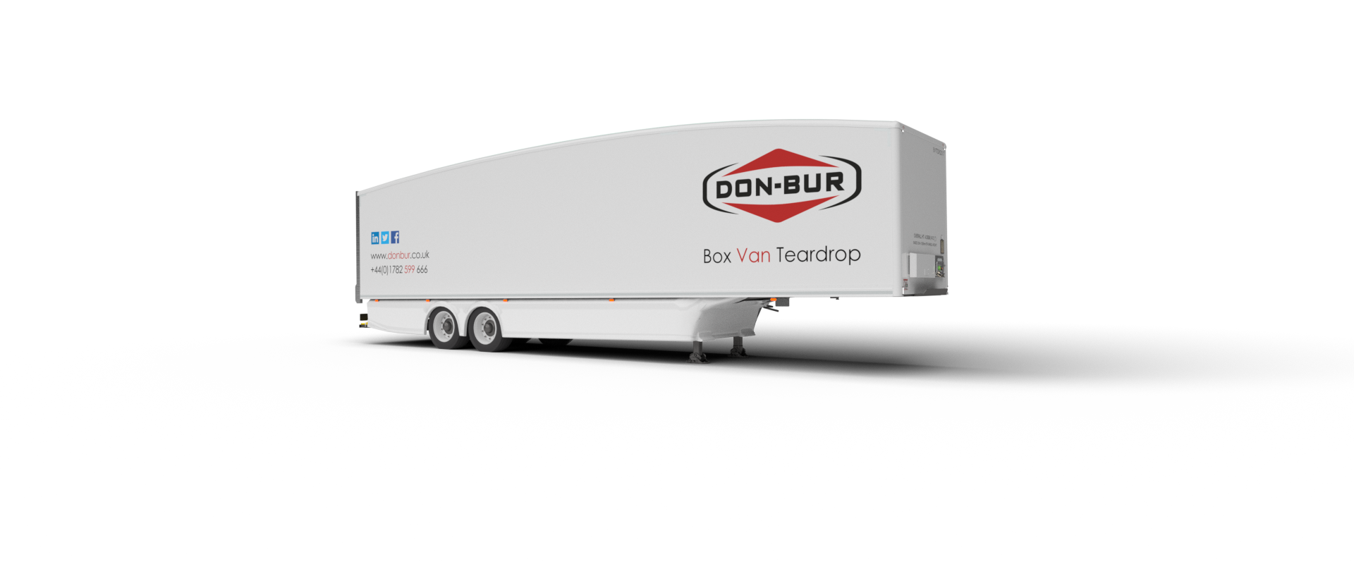 Aerodynamic Box Van Teardrop Trailer Open