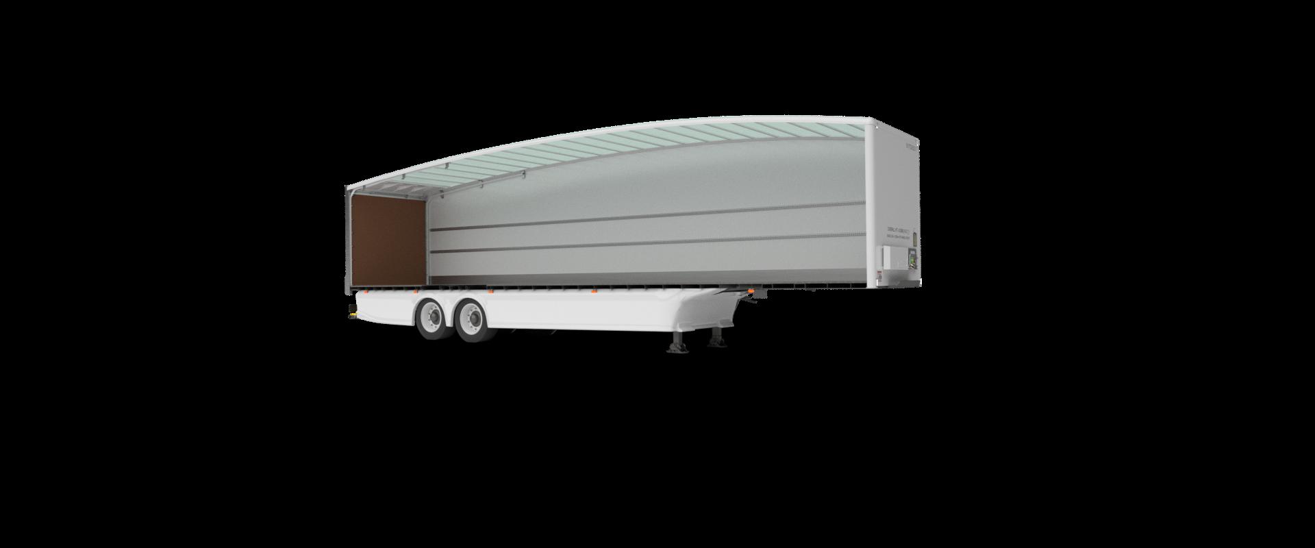 Aerodynamic Box Van Teardrop Trailer Closed