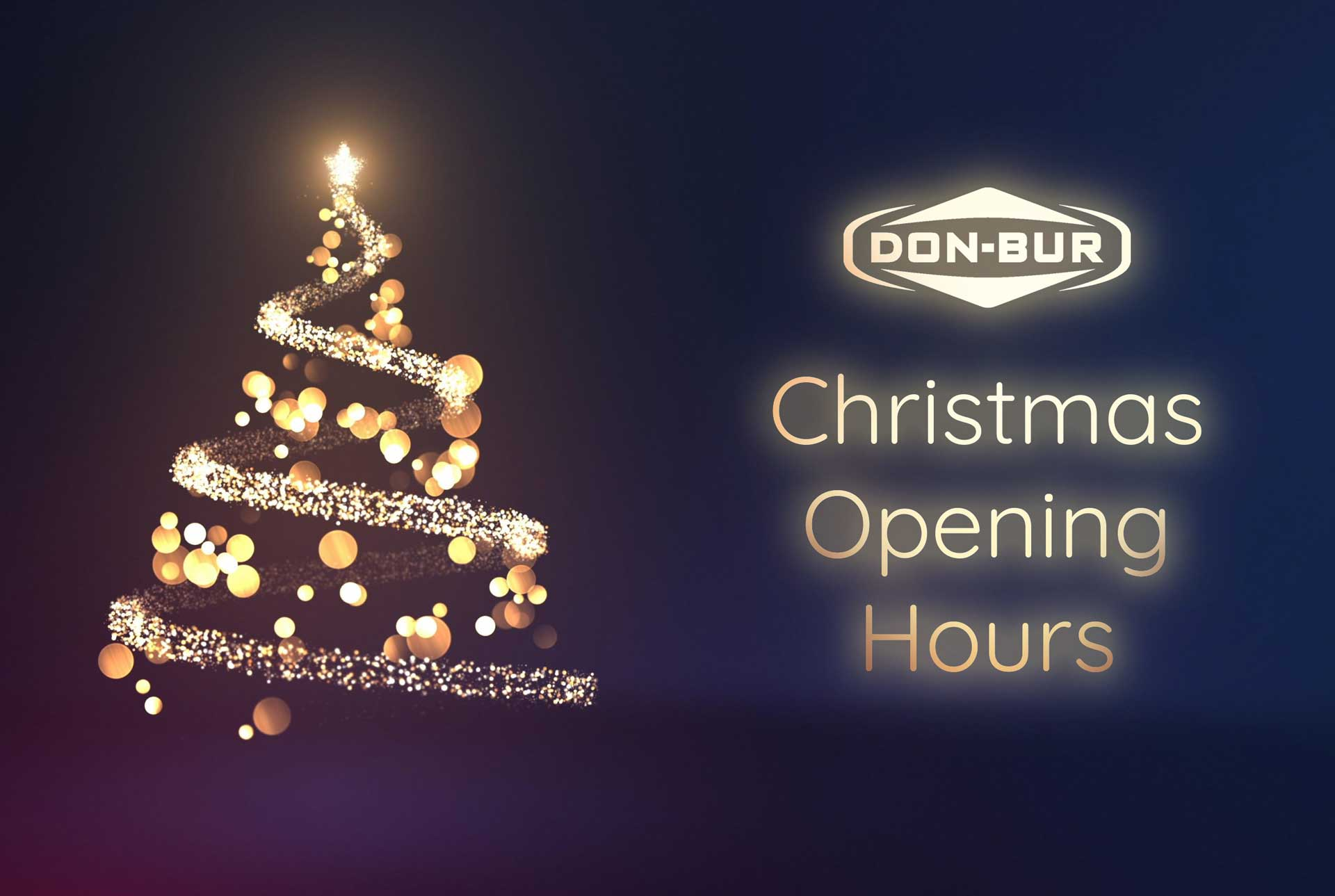 2020 Christmas Opening Hours