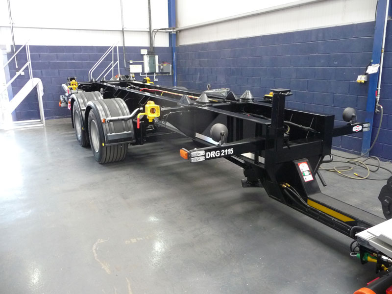 Draw-Bar Trailer with De-Mount Straight Lift Chassis Installation