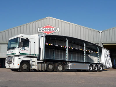 Don-Bur Create First Teardrop Ratchet Double Deck Trailer