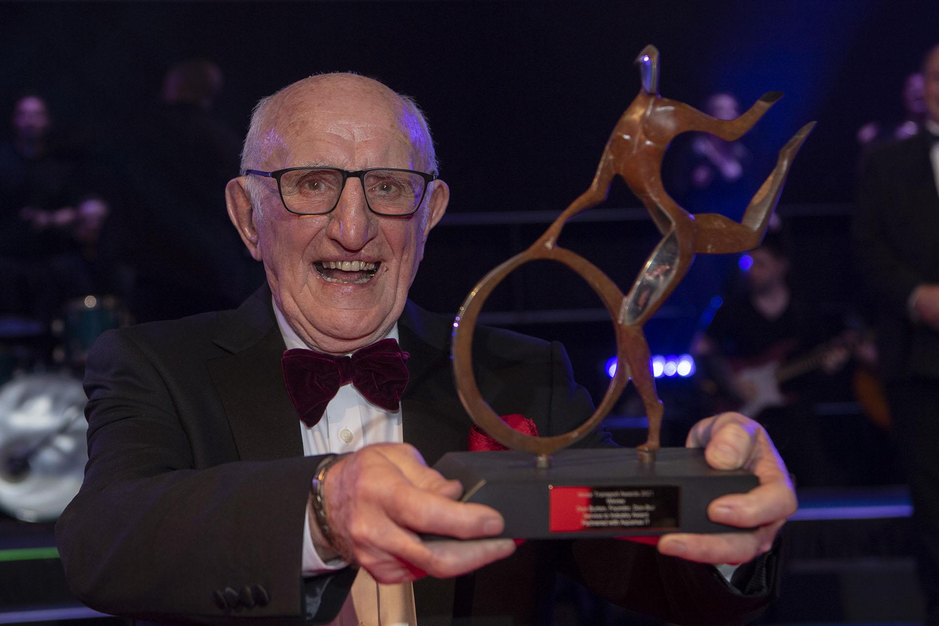 Don Burton Receives Service To Industry Award at Motor Transport Awards