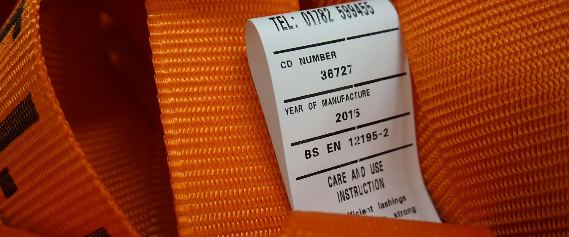 EN 12195-2 - Label