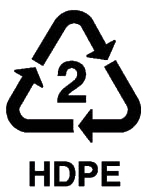 Recyclable 2 HDPE