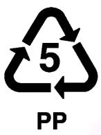 recyclable 5 Polypropylene