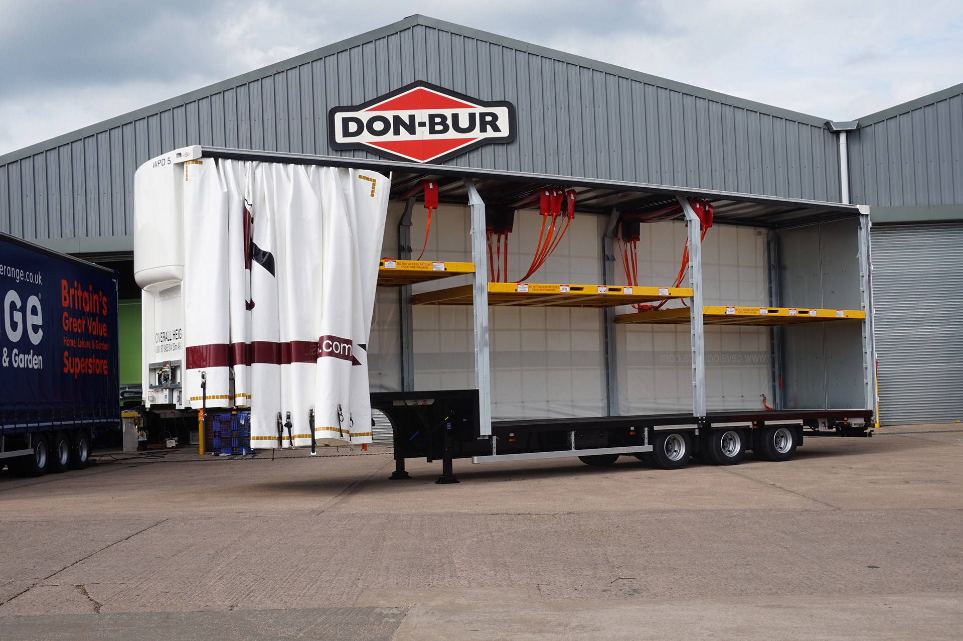 Ratchet Double Deck Trailer