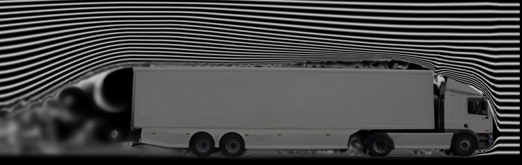 Standard trailer in windtunnel