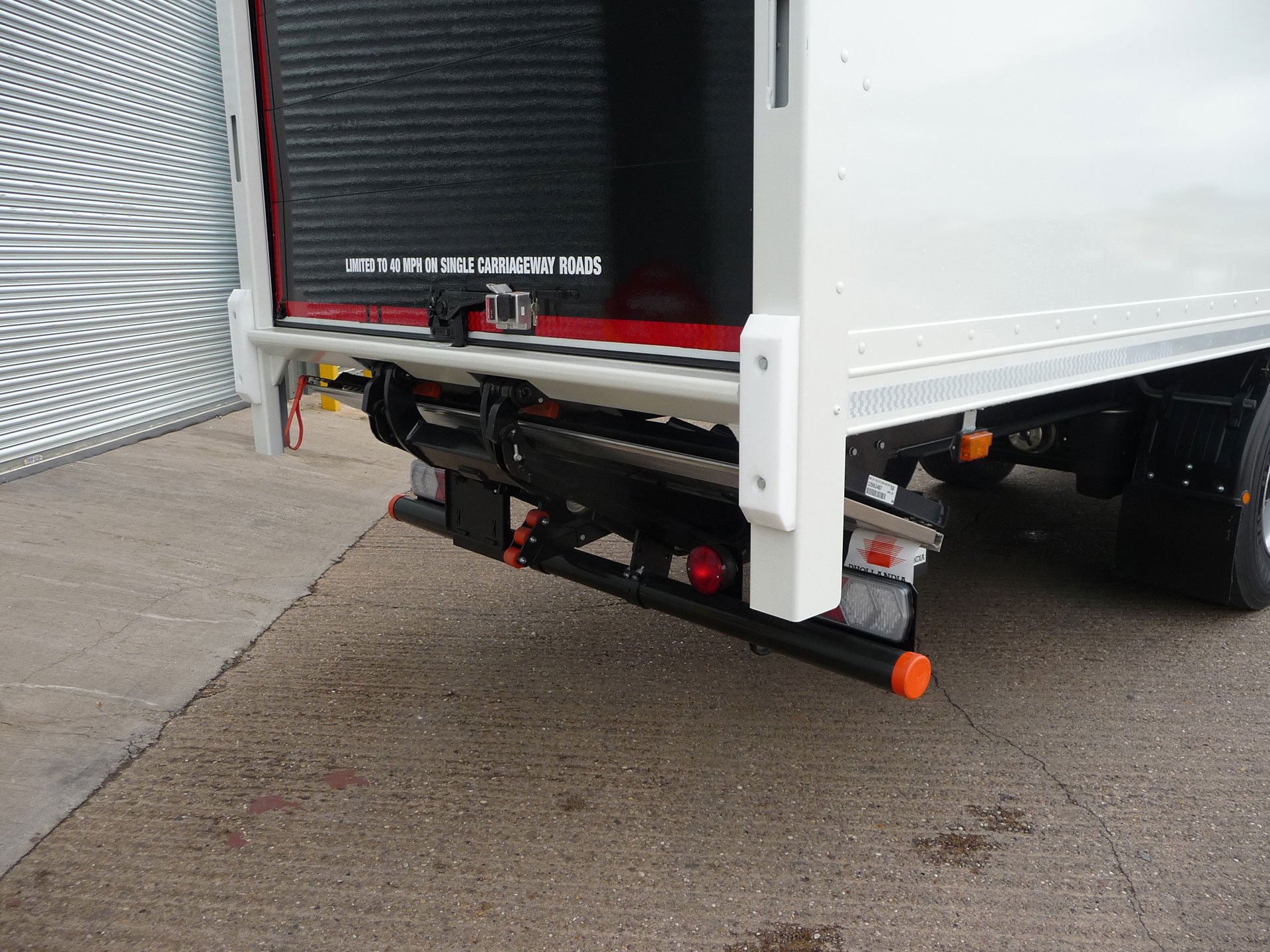 Stowed Tuck-Away Tail-Lift