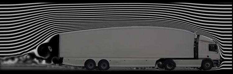 Teardrop trailer in windtunnel