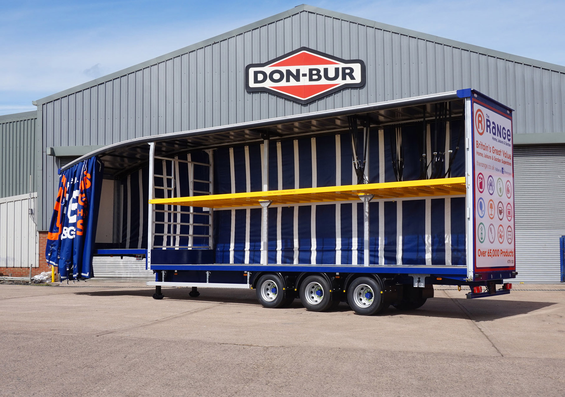 The Range Curtainsided Fixed Double Deck Trailer