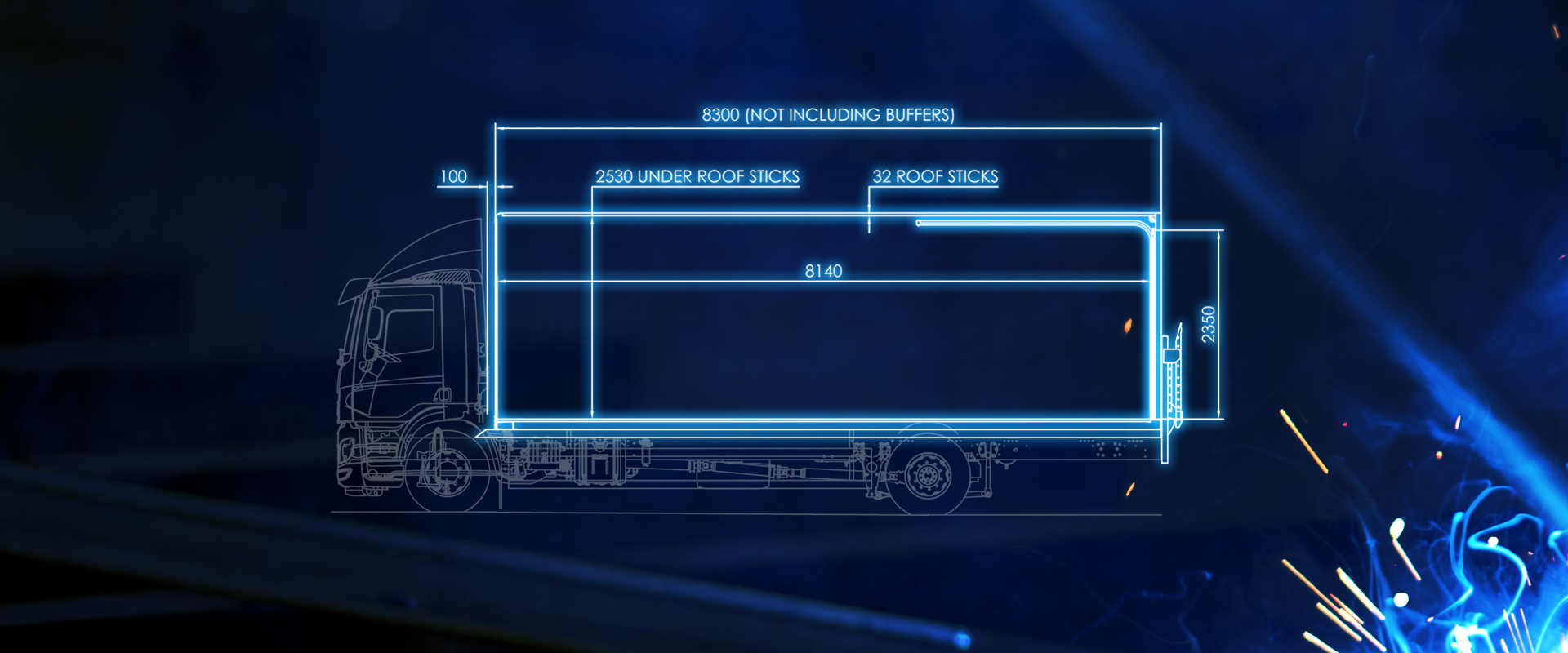 box van rigid bodywork blueprint