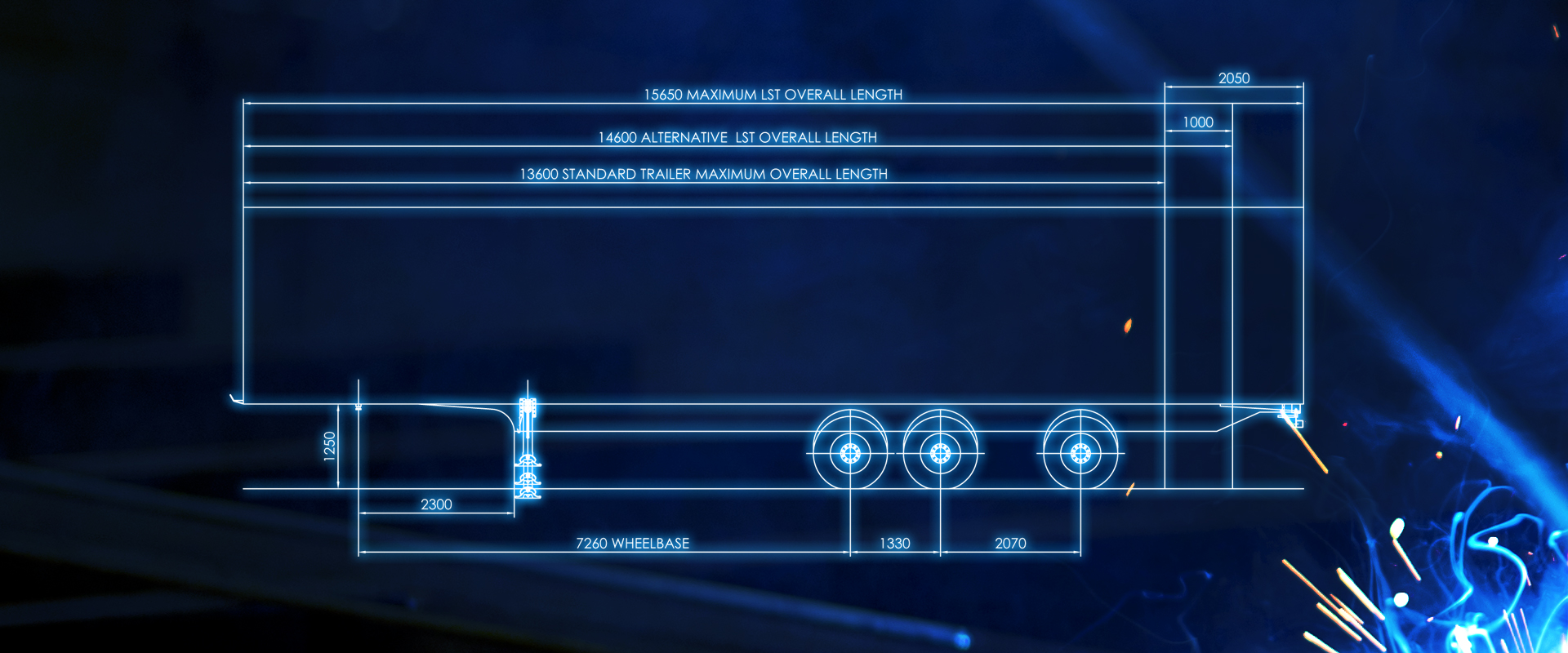 longer semi-trailer blueprint