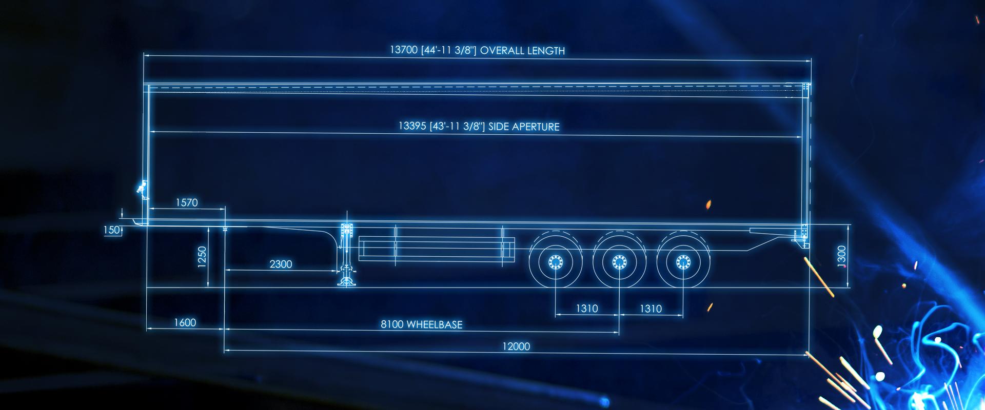curtainsider trailer blueprint