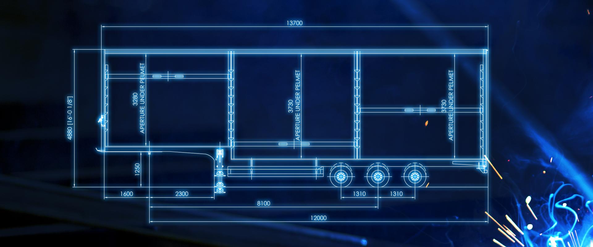 curtainsided ratchet deck trailer blueprint