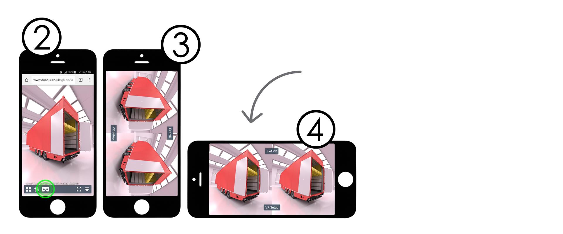 VR rotate handset