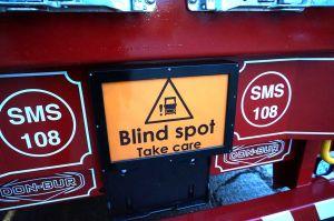Flashing Rear Blind Spot Sign photo